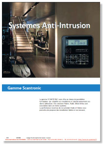 Catalogue anti-intrusion Scantronic 2016